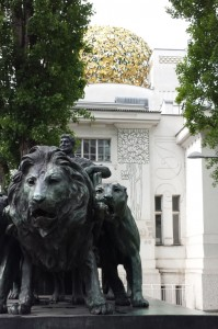 Leeuw bij Secession in Wenen